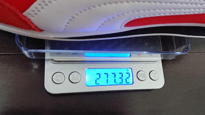 プーマのスニーカー 重さ277g