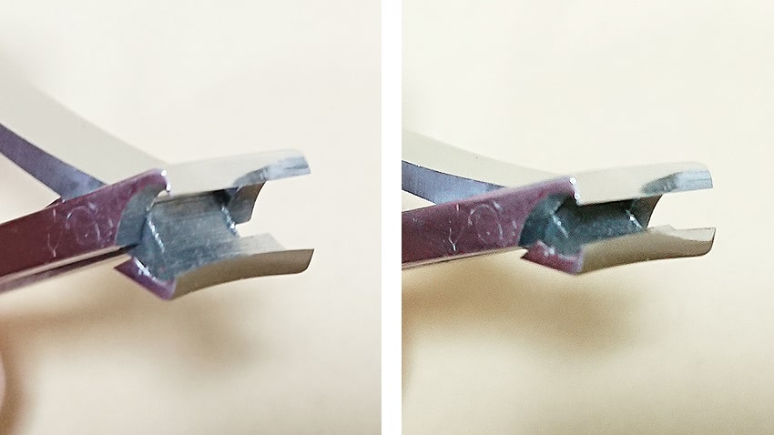 INOX爪切り刃の部分2カット