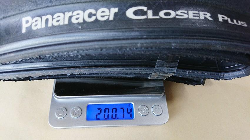 Panaracer Closer Plusパナレーサークローザープラス 重さ