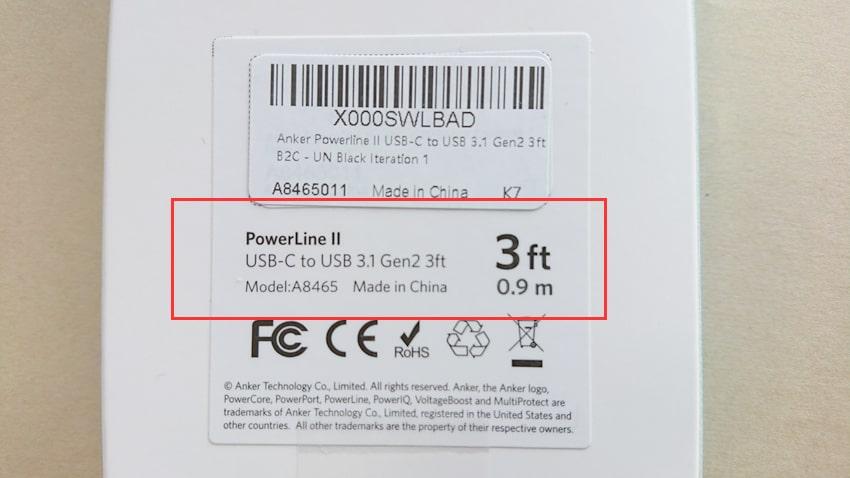 ANKER USBケーブルとの比較9