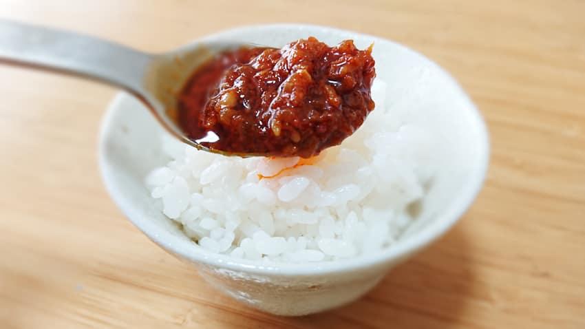 KALDI_食べるラー油とご飯2