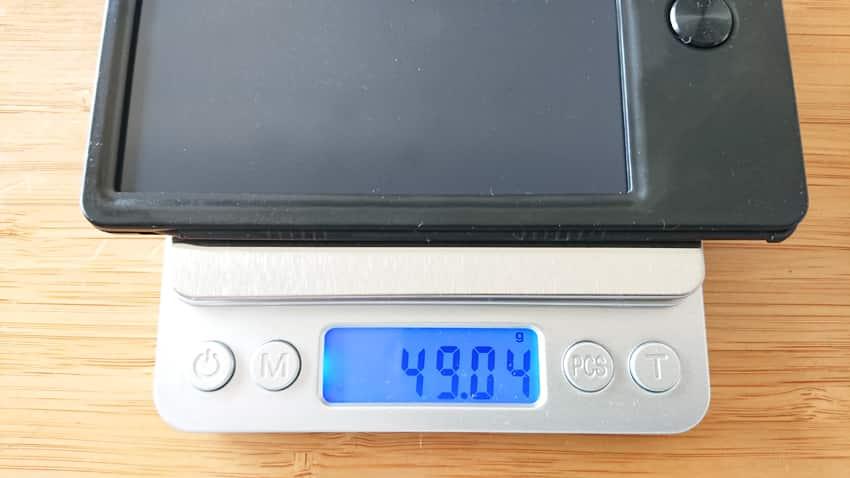 LCD電子メモ重さ