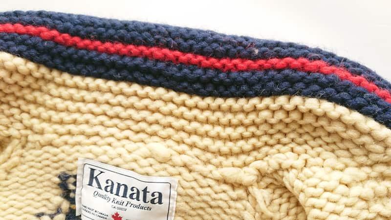 kanataカウチンセーターの襟