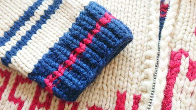 kanataカウチンセーターの袖