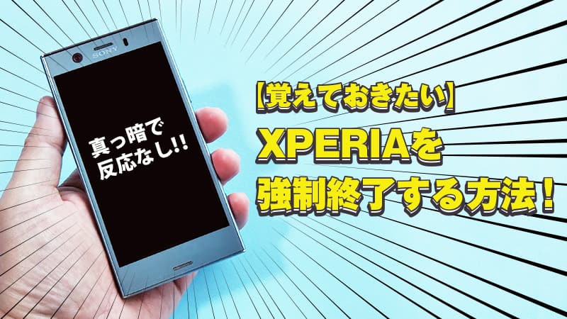 experiaNO強制終了の方法4
