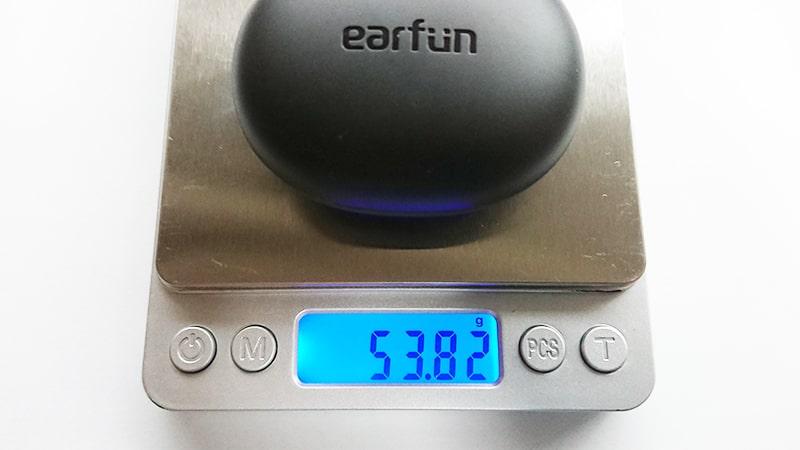 earfun-Air-pro2の充電ケースと本体の重量1