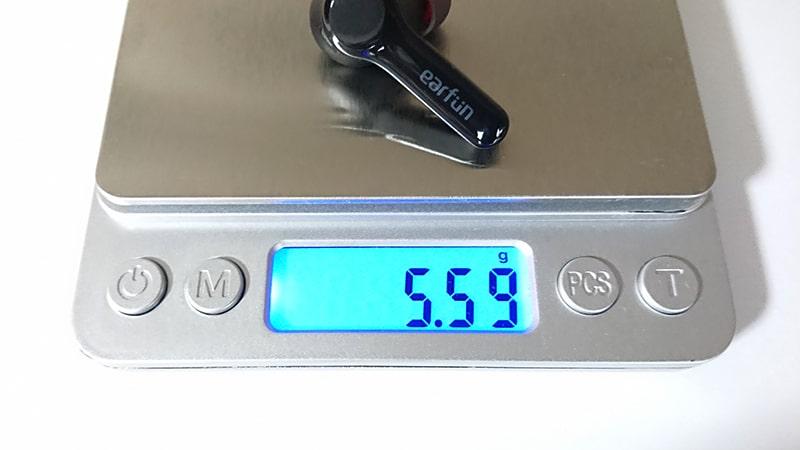 earfun-Air-pro2の本体の重量