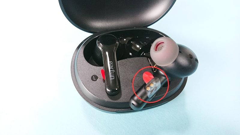 earfun-Air-pro2の本体の絶縁シール