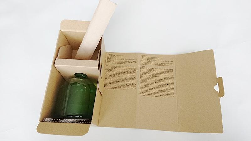 無印インテリアフレグランスのパッケージの開封(ハーバル)